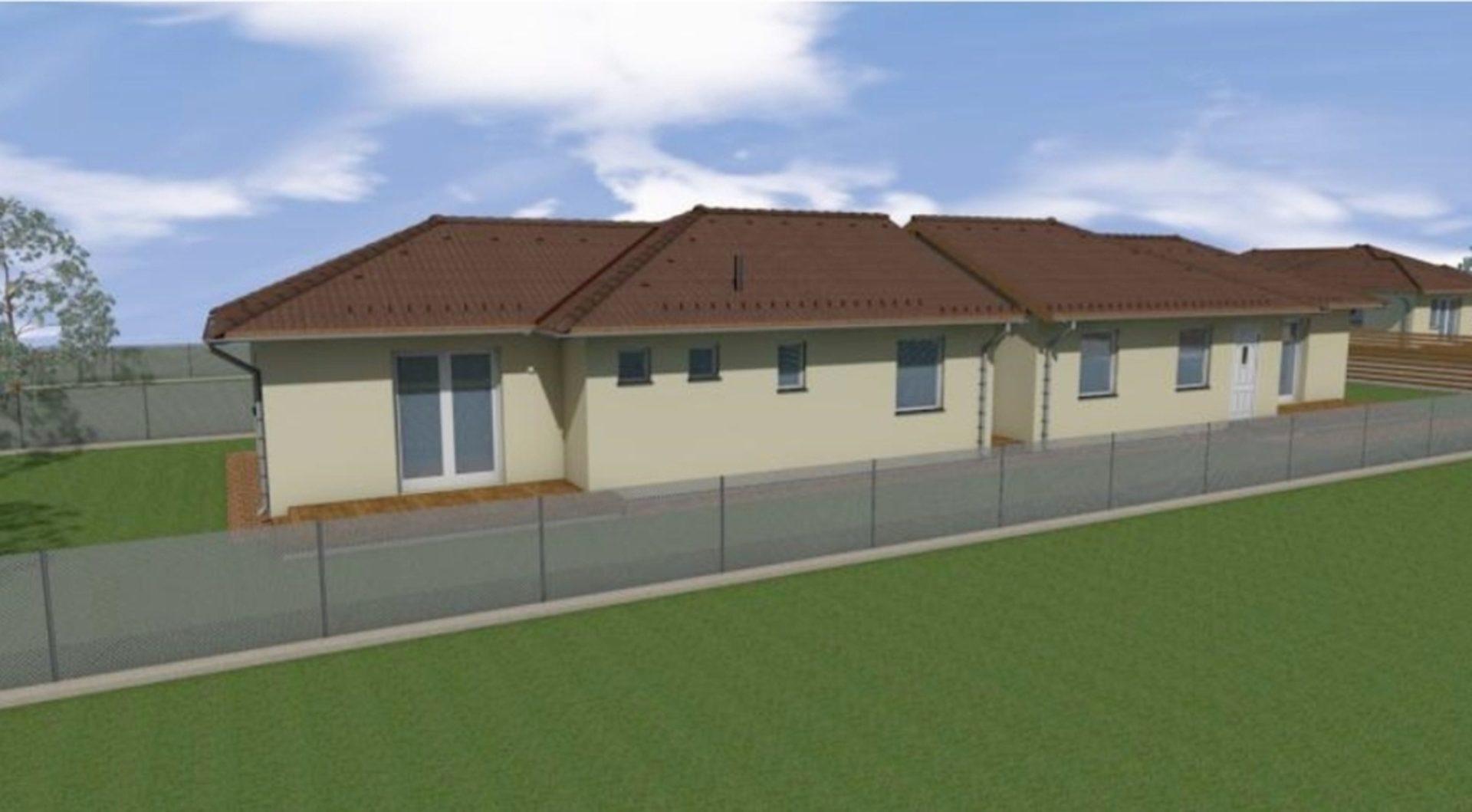 Üllő egyik új építésű részén,családi házak között földszintes,új építésű ikerház eladó!