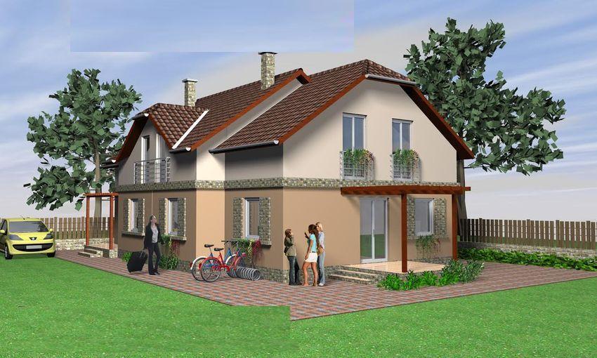 Új építésű,mégis családias környezetben,belső emeletes ikerfél eladó