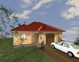 Önálló, új építésû 3 szobás, garázsos  családi ház