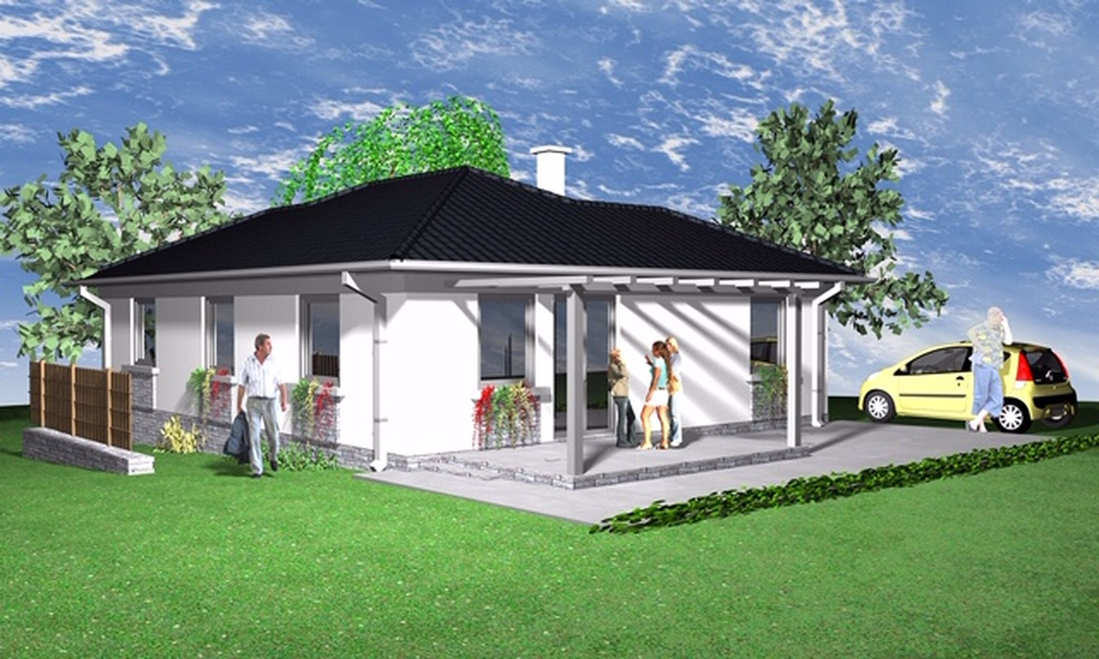 Maglódon,békés környezetben új építésű,földszintes családi ház eladó